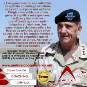 Escuchar a sus equipos General Tommy Franks